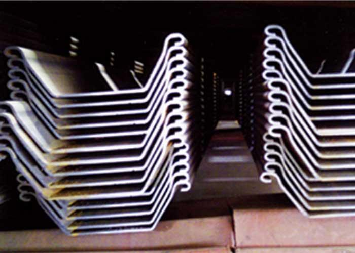 Kaltgeformte U-Stahlblechpfähle